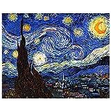 Legendarte - Cuadro Lienzo, Impresión Digital - La Noche Estrellada - Vincent Van Gogh - Decoración Pared cm. 80x100