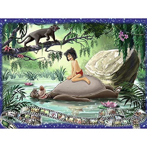 LBGMN 3D Needlework DIY Diamond Painting Diamond Embroidery Kid with Animals Full Pasted Decorative Wall Stickers Cross Stitch Craft-30x40cm(11.8x15.7inch)