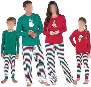 5494627fd0 Hzjundasi Famiglia Matching Set da Pigiama - Uomini Donne Ragazzo Ragazza  Bambini Pjs Homewear Indumenti da