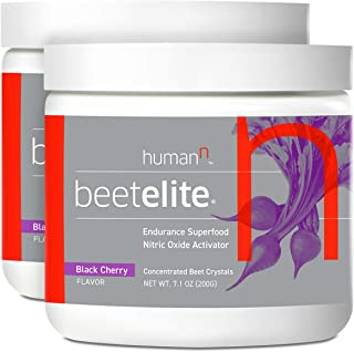 HumanN BeetElite Superfood Concentrated Beet Powder Nitric Oxide Boosting Athletic Endurance Supplement (Black Cherry Flavor, 7.1-Ounce, 2-Pack)