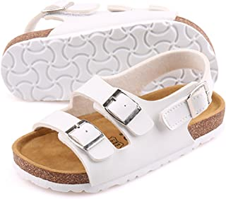 UBELLA Boys Girls Kids Buckle Strap Open Toe Casual Beach Gladiator Sandals