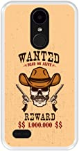 Funda Transparente para [ LG K4 2017 - K8 2017 ] diseño [ Cartel Wanted, Dead or Alive Reward ] Carcasa Silicona Flexible TPU
