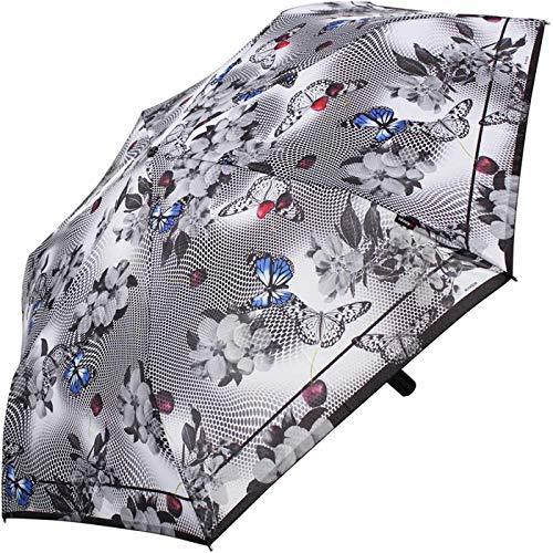 Knirps Regenschirm Slim Duomatic - klein und leicht mit Auf-Zu Automatik (Japan)