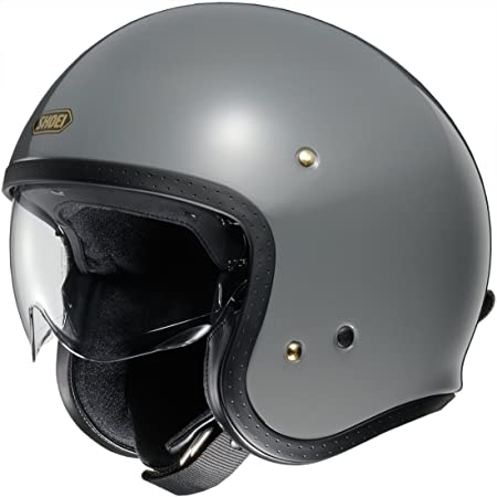 Shoei Jethelm J O Rat Grey Grau Jo Jet Motorrad Mit Höhenarretierbarem Visier Shoei Sport Freizeit