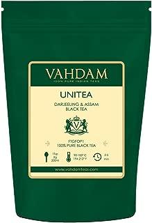 VAHDAM, UNITEA Black Tea (100+ Cups) | Blend Of Darjeeling Tea & Assam Tea | 100% PURE Black Tea Leaves | ROBUST & FLAVORY Black Tea Loose Leaf | Brew as Hot Tea, Iced Tea or Latte | 9oz Loose Tea