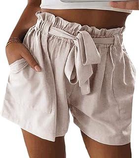 CBTLVSN Women Pant Baggy Elastic Waist Casual Short High Waist Short