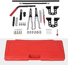 Qiilu Spring Compressor Kit, Universal Car Engine Overhead Valve Spring Remover Installer Stem Seal Installer and Remover Tool Kit