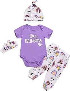 Infant Baby Girl Clothes Little Sister Newborn Outfits Bodysuit Top Romper+Floral Pant+Headbands 4Pcs Toddler Pant Sets