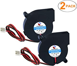SoundOriginal 24V DC Brushless Blower Cooling Fan 50x50x15mm,for 3D Printer Humidifier Aromatherapy and Other Small Appliances Series Repair Replacement (2pcs 24V)