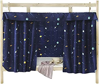 JIAHG Students Dormitory Bunk Bed CurtainsSingle Bed Tent Curtain Shading Nets Dustproof Blackout Cloth Bed Canopy Mosquito Protection Net Bedroom Cabin Decor Mid-Sleeper Spread Blackout Curtains