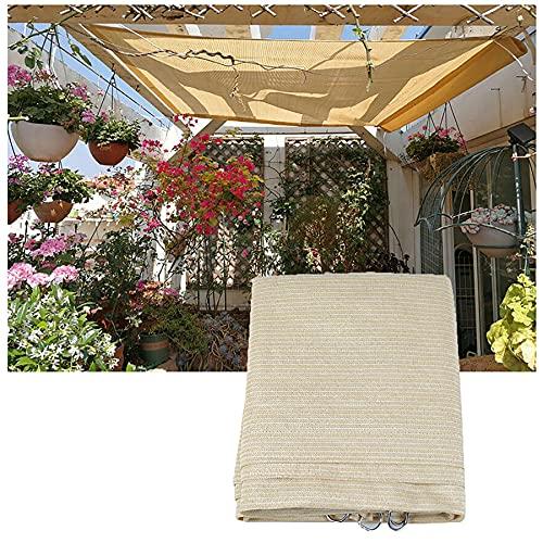 Toldo rectangular con 85 % a prueba de rayos UV, toldo para exteriores, protector solar y transpirable, para patio, porche, piscina, plantas, flores, 1 x 3 m