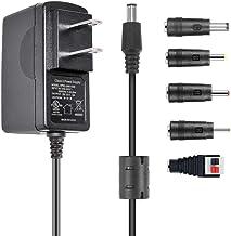 AC Adapter 9V 1.5A Switching Power Supply, 13.5W Wall Transformer Charger for Arduino UNO R3, Schwinn Bike, Crosley Cruise...