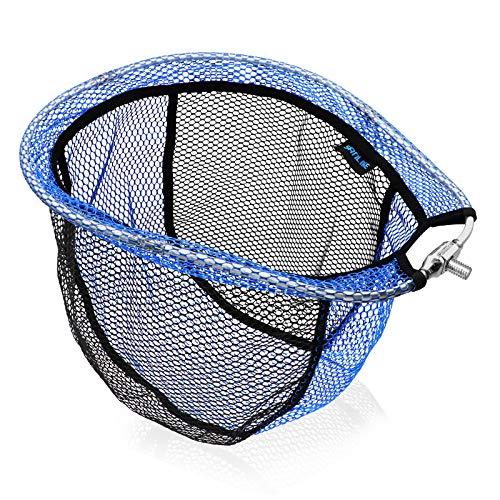 SANLIKE タモ網 玉網 替え網 ラバーネット ランディングネット アルミオーバルフレーム 大型たも網 折りたたみ玉枠 たも網 釣りネット