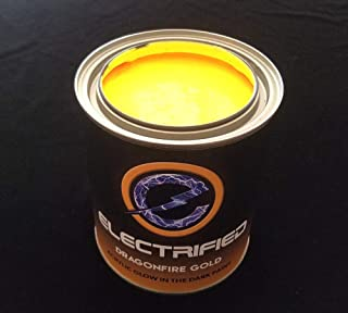 Glow in The Dark Yellow Paint - 32oz - Dragonfire Gold - Acrylic Based Glow in The Dark Paints for Art, Theater, Wall Art, Halloween, Professional Grade Quality