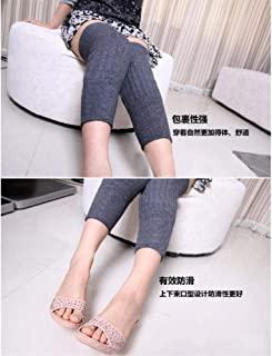 TIN-YAEN Knee warmer plus fertilizer longer thickening men and women XL care @ gray_M Knee Pads Protector