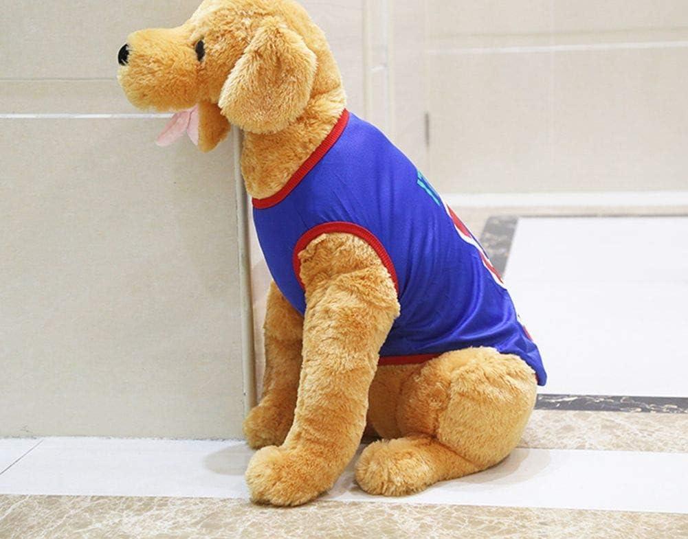 OWBB Haustier T-Shirt XS-6XL,Hunde Shirt Baumwolle Atmungsaktiv,hundeweste Haustierkleidung Haustier Trikot Sommer Viele Farben