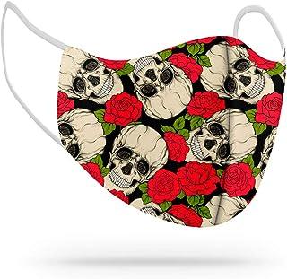Máscara de Proteção Facial Personalizada Estampada Tecido Reutilizável Rosas Flores com Forro Tnt REF29
