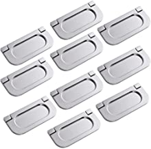 10x Manijas invisibles, Mini Tiradores de barra de Acero inoxidable, Cajón De Armario Armario Manillas Tiradores Puerta