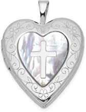Women Men Crystal Cross Heart Pendant Necklace Chain Gift Silver Tone Jewelry
