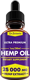 25 000 MG - Hemp Oil Drops - 100% Pure Natural Ingredients - Co2 Extracted - Anti-inflammatory - Help Reduce Stress, Anxiety and Pain - Vegan Friendly
