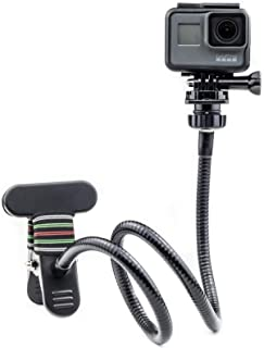 Digicharge Flexibel svanhals klämma arm käftmontering kompatibel med GoPro Max Hero9 Hero 9 8 7 6 Hero8 Akaso Crosstour Ca...