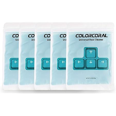 ColorCoral キーボード 掃除 スライム ホコリ取り 車内掃除 スライムクリーナー 繰り返し 多用途 70g*5 青