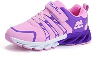 JACKSHIBO Girls Boys Breathable Running Shoes,Kids Outdoor Sports Athletic Walking Sneakers(Toddler/Little Kid/Big Kid)