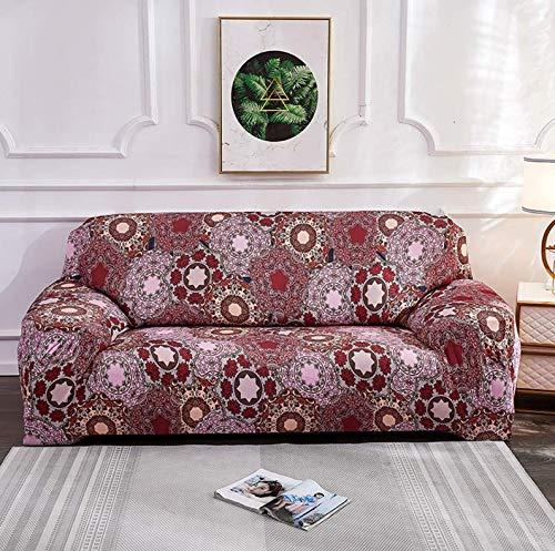 Elasticidad La Funda Para Sofa Chaiselongue Funda Sofá,Bohemio Impreso Protector De Muebles,Anti-resbalón Cubierta Elástica Del Sofá En Forma De L 1 2 3 4 Plazas-Printed-8 Chair 90~140cm(35~55inch)