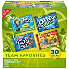 Nabisco Team Favorites Variety Pack, OREO Mini, CHIPS AHOY! Mini, Teddy Grahams Honey & Barnum's Animal Crackers, 30 - 1 oz Packs