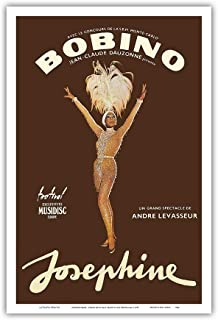 Pacifica Island Art - Josephine Baker - African American Entertainer - Bobino Music Hall, France - Vintage Theater Poster by Guy Ventouillac c.1975 - Master Art Print - 12in x 18in