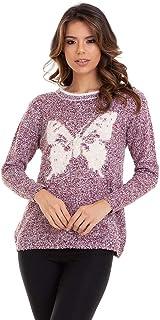 Suéter Tricot Pelinhos Butterfly Kinara