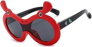 Pteng - Gafas de sol polarizadas con personalidad , 100% gafas de protección UV400, irrompibles, flexibles, de seguridad para niñas y niños de 3 a 12 años