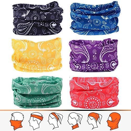 JOEYOUNG Stirnband Bandanas Multifunktionsschlauch Headwear Neck Gaiter, Head Wrap für Frauen, Magic Head Scarf, Gesichtsmaske, Sturmhaube, Schweißband für Angeln, Yoga, Motorrad