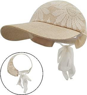 LETHMIK Women Visor Sun Hat,UV Sun Protection Adjustable Lace Summer Beach Hat Glof Baseball Cap