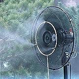 COM-SHOT 【 省エネ & クール 】 ミスト シャワー セット 扇風機 簡単 取付 エコ 打ち水 効果 熱中症 対策 気化 冷却 【 20 インチ 】 MI-MISTFN-20