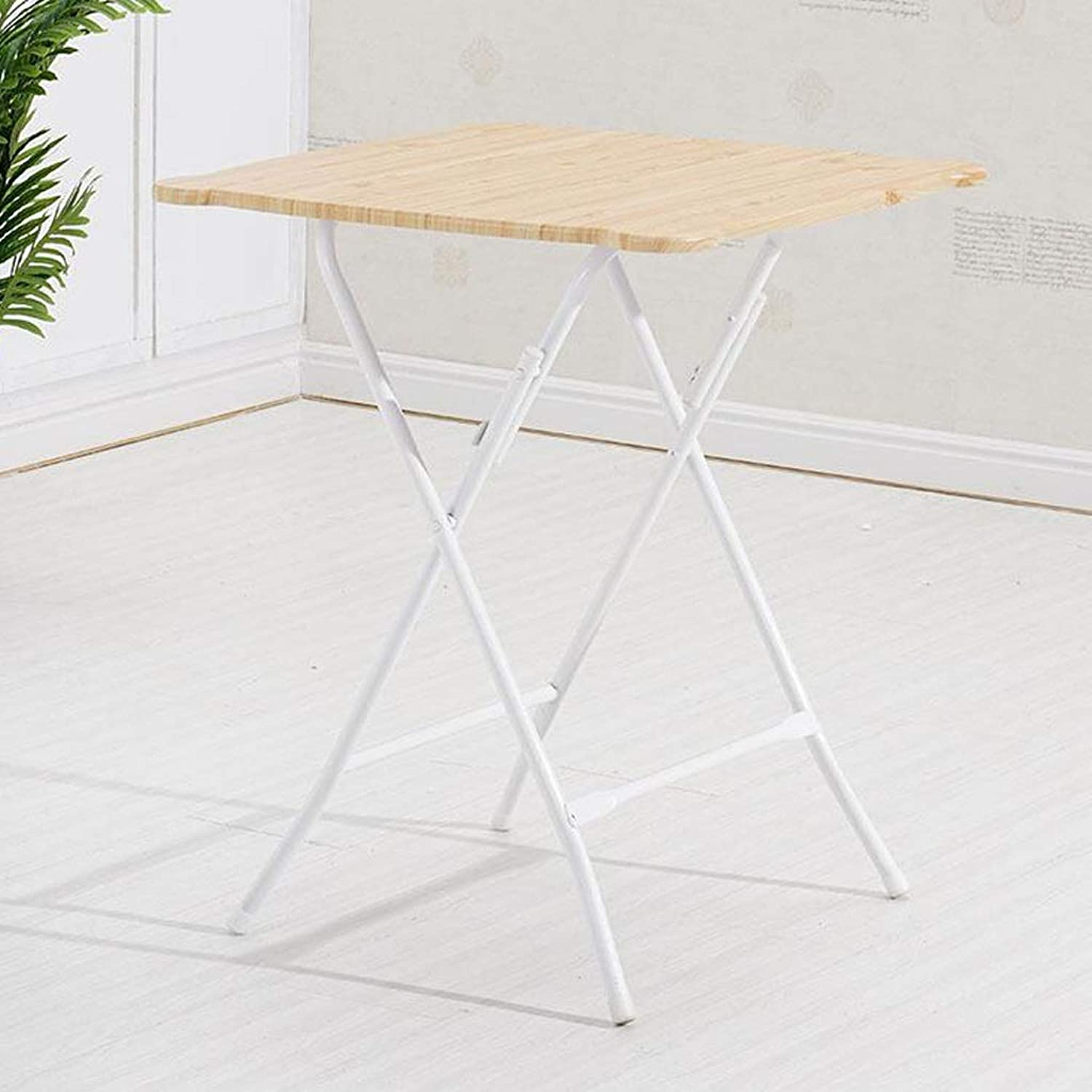 JSFQ Folding Table Dining Table Home Simple Small Apartment 2 People 4 People Portable Dining Table Square Round Small Table Folding Table (color   D)