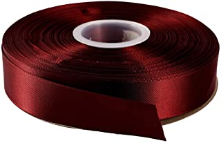 """ITIsparkle 1"""" Inch Double Faced Satin Ribbon 50 Yards-Roll Set for Gift Wrapping Scrap Books Party Favor Hair Braids Baby Shower Decoration Floral Arrangement Craft Supplies, Burgundy 277# Ribbon"""