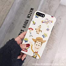 Szcc Cartoon space three eyes Houdi mobile phone case for Apple X / 8plus / iPhone 6splus silicone 7p set(Black edge white Toy Story, Max)
