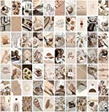 ANERZA Beige Wall Collage Kit Aesthetic Pictures, Room Decor for Bedroom Aesthetic, Posters for Room Aesthetic, Cute Photo Wall Decorations for Teen Girls, Dorm Trendy Wall Art (70 pcs)