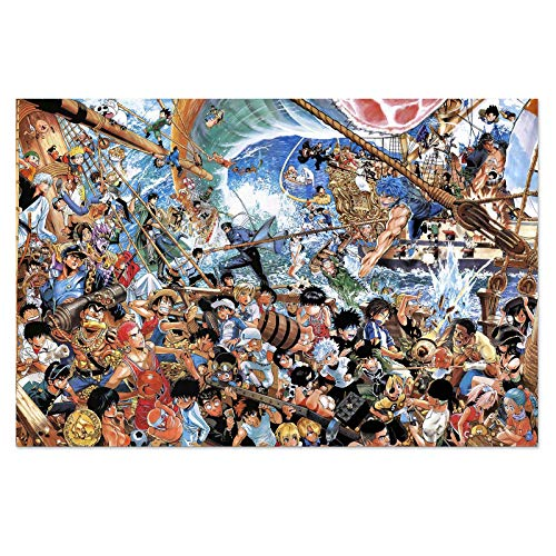 One Piece JoJo's Bizarre Adventure Naruto My Hero Academia Hunter X Hunter Puzzles for Adults 1000 Pieces Anime Jigsaw Puzzles 30x20 in