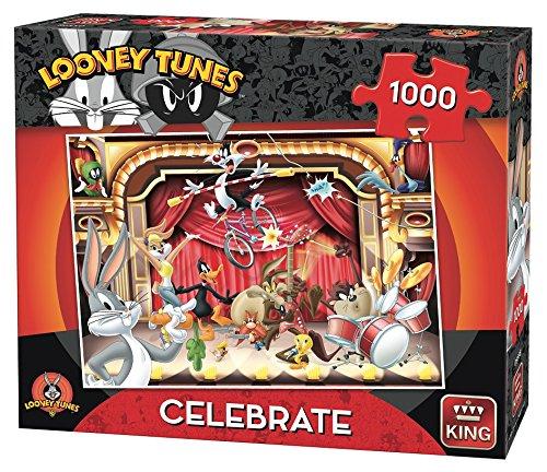 King Kng05598 Looney Tunes célébrer Puzzle (Lot de 1000)