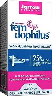 Jarrow Formulas Shelf-Stable Fem-Dophilus, 1 Billion Organisms Per Capsule, Supports Vaginal and Urinary Tract Health, 60 ...