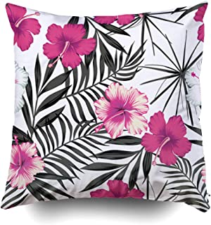 GROOTEY Square Pillow Case with Zippered for Home Sofa Decor 20X20Inch Costom Throw Cover Cushion,