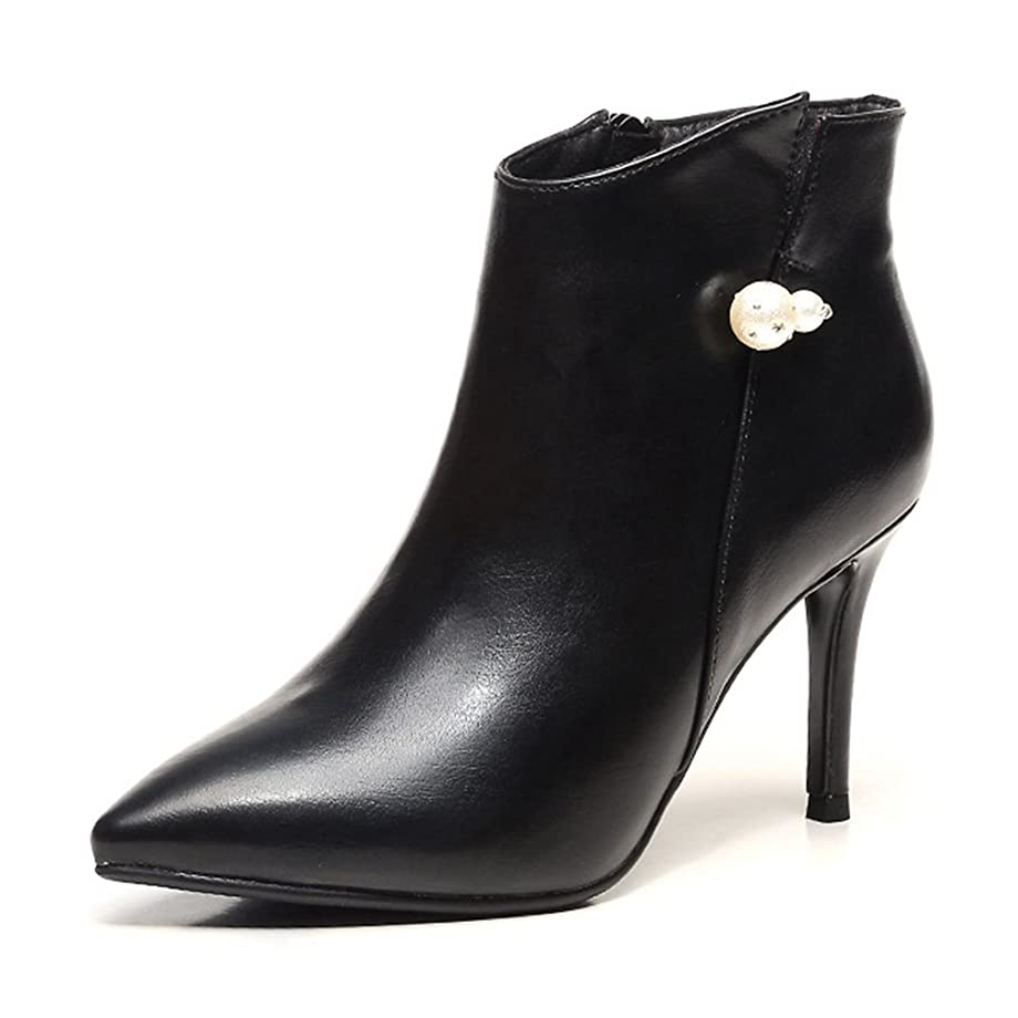アクロバット椅子特権ショートブーツ ビジュー付き レデイース 短靴 可愛い 秋靴 ハイヒール セクシー ローカット ピンヒール 美脚 ポインテッドトゥ レッド 黒 おしゃれ カジュアル 婦人靴 通勤 サイドジップ ママの靴 オフィスシューズ