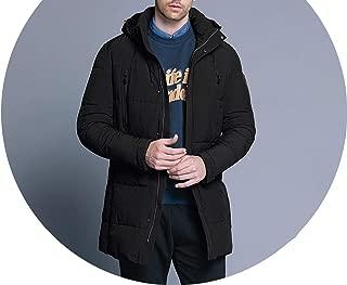 Winter Jacket Men Slim Thick Warm Waterproof Zipper Clothes for Men FA,M902,XXXL