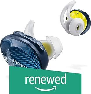 (Renewed) Bose Sound Sport Free Truly Wireless Sport Headphones (Midnight Blue/Citron)