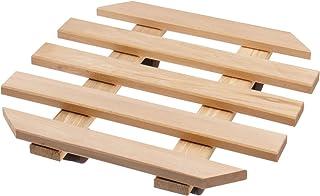 Soporte con ruedas para maceteros 35 x 35 cm - Soporte de madera con 4 ruedas