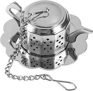 Filtros de colador de té en forma de tetera, difusor de infusores de té de hojas sueltas de acero inoxidable Filtro de int...