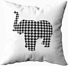 Shorping Zippered Pillow Covers Pillowcases 16X16 Inch houndstooth elephant Decorative Throw Pillow Cover,Pillow Cases Cushion Cover for Home Sofa Bedding