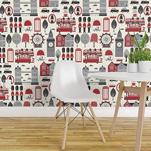 Spoonflower Peel and Stick Removable Wallpaper, London...